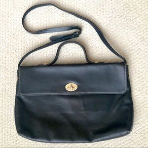 Vintage LANCEL PARIS Black Leather Bag